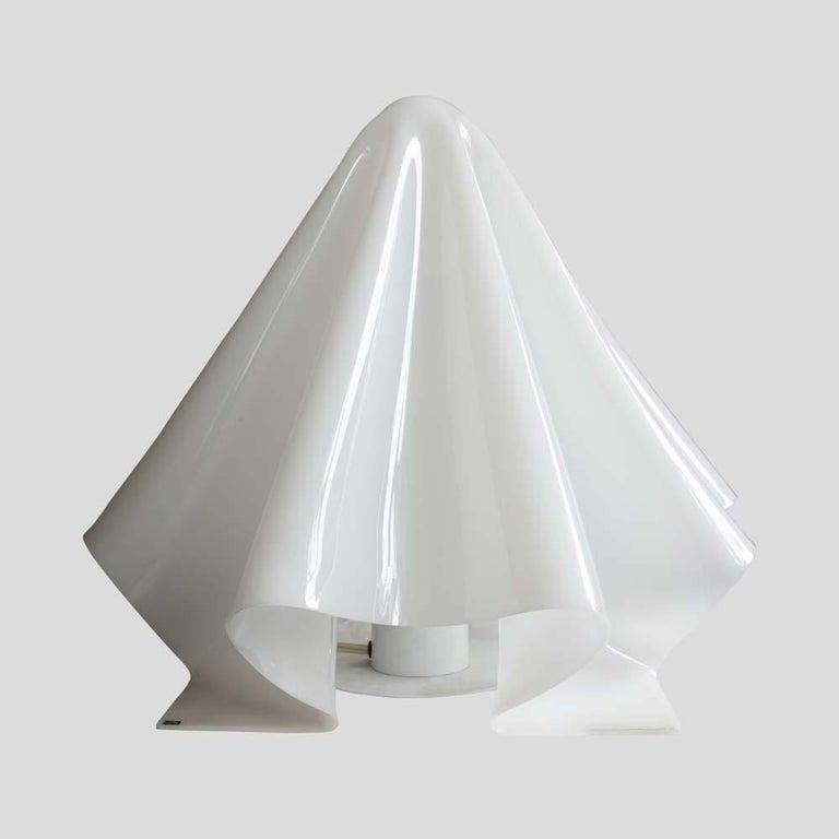 Late 20th Century Koko Ghost Lamp Japanese Design by Shiro Kuramata for Yamagiwa White Acrilic For Sale