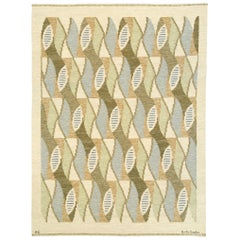 'Kokong' Swedish Flat Weave Rug by AG Brita Grahn