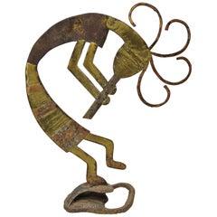 Kokopelli Southwestern Iron Rusty Garden Yard Ornament Sculpture