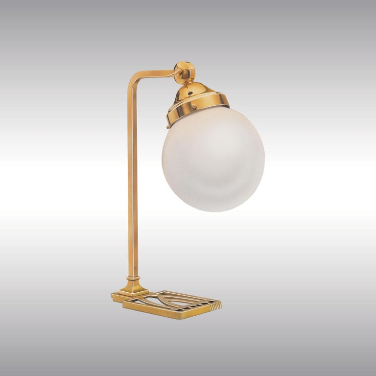 Jugendstil Koloman 'Kolo' Moser Table or Wall Lamp in one re-edition For Sale