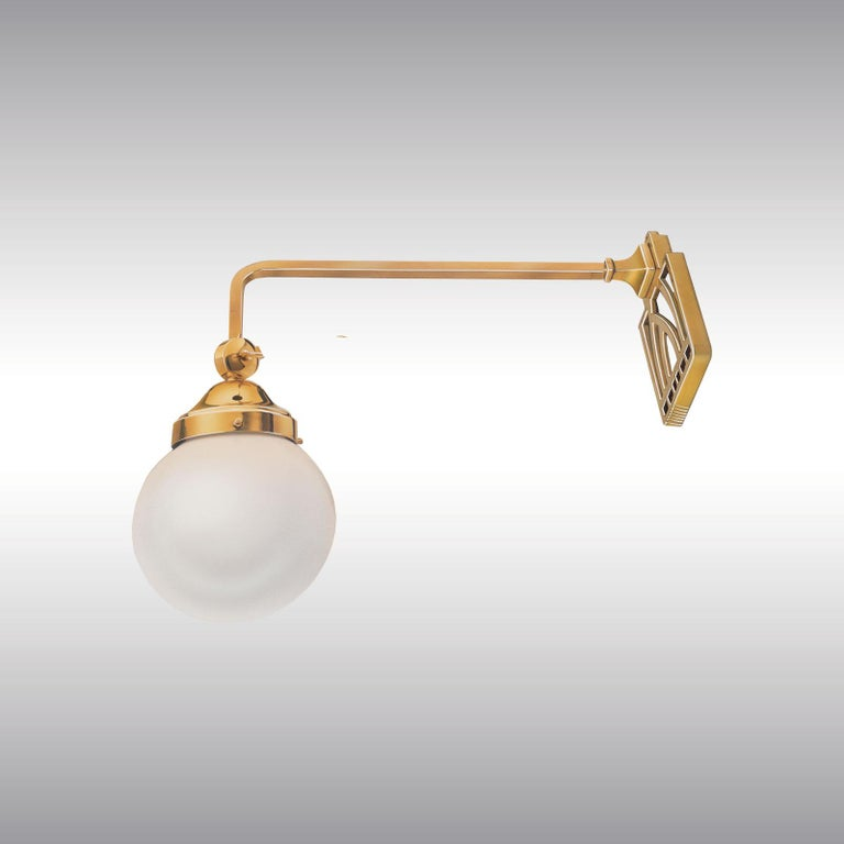 Austrian Koloman 'Kolo' Moser Table or Wall Lamp in one re-edition For Sale