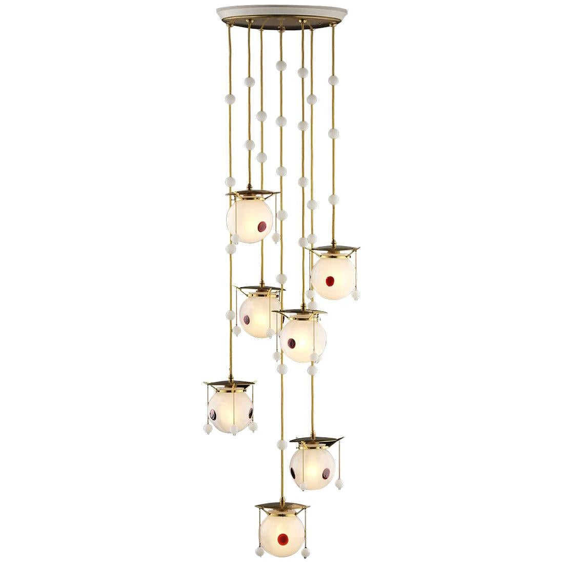 Koloman Moser and Josef Hoffmann Jugendstil Chandelier, Re-Edition