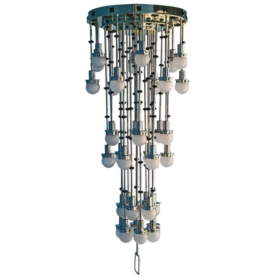"Koloman Moser for Otto Wagner ""Steinhof Church"" Chandelier 36 Flames Re edition"