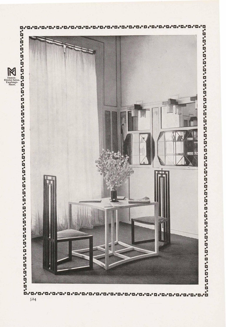 Hand-Crafted Koloman Moser for the Wiener Werstaette  Jugendstil Wall Light, Re-Edition For Sale