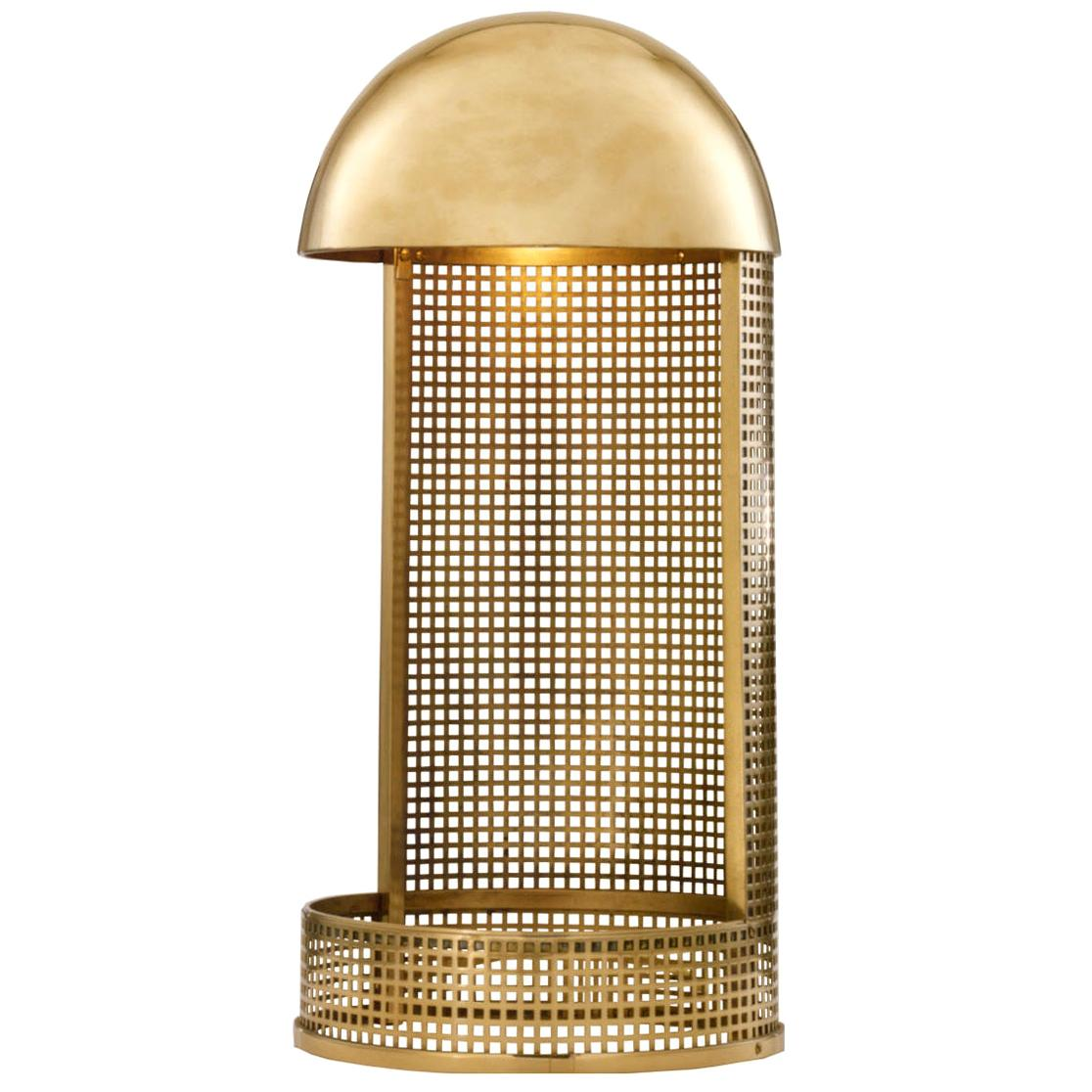 Koloman Moser/Wiener Werkstätte Brass Table Lamp, Re Edition