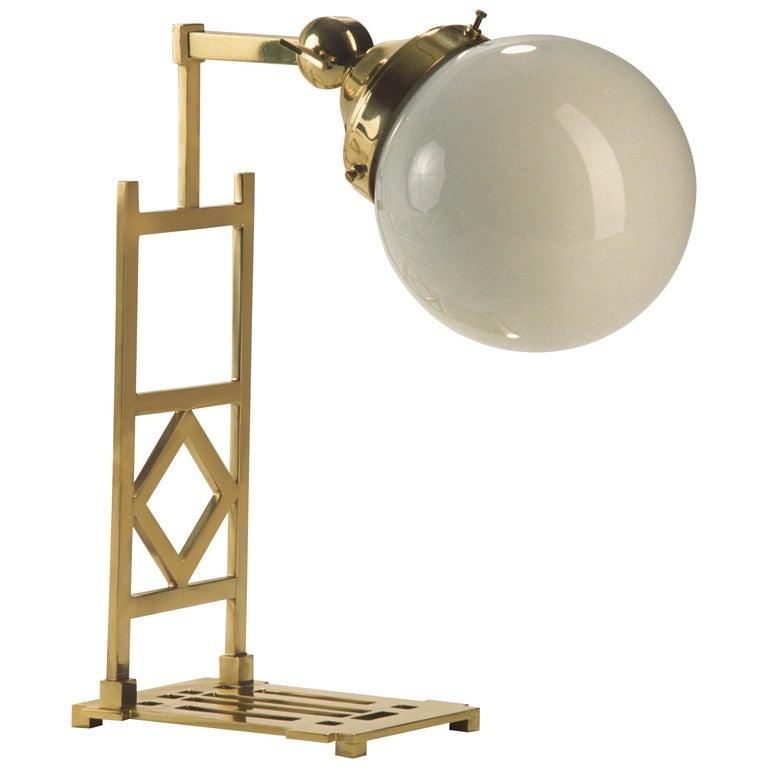 Koloman Moser Wiener Werkstätte Jugendstil Table Lamp Re-Edition For Sale