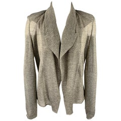 KOLOR Size S Silver & Grey Metallic Polyester Blend Jacket