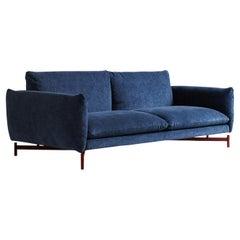 Kom Blue Sofa by Angeletti Ruzza