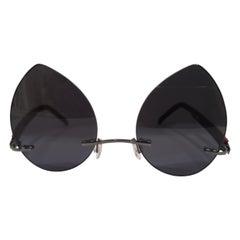 Kommafa black drops lens sunglasses