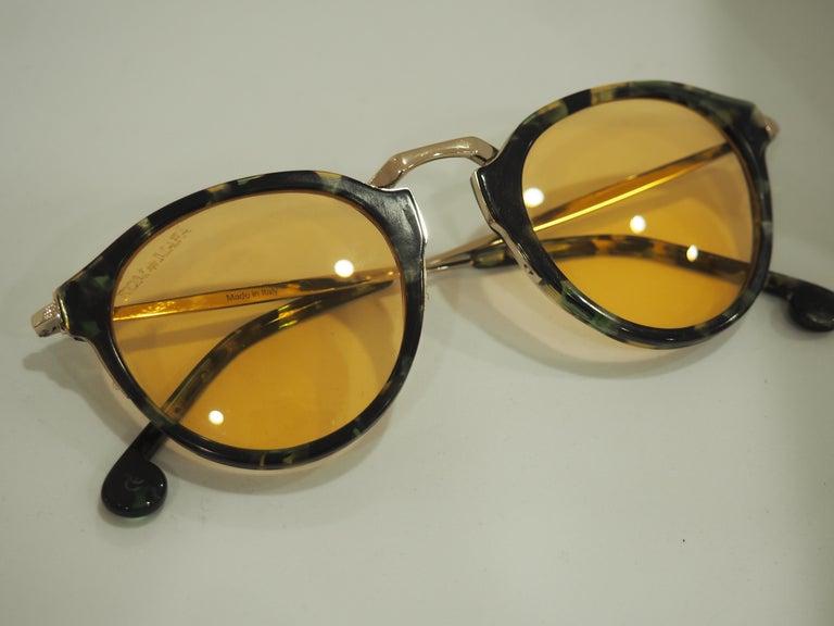 Kommafa orange lens tortoise sunglasses totally made in italy one of a kind