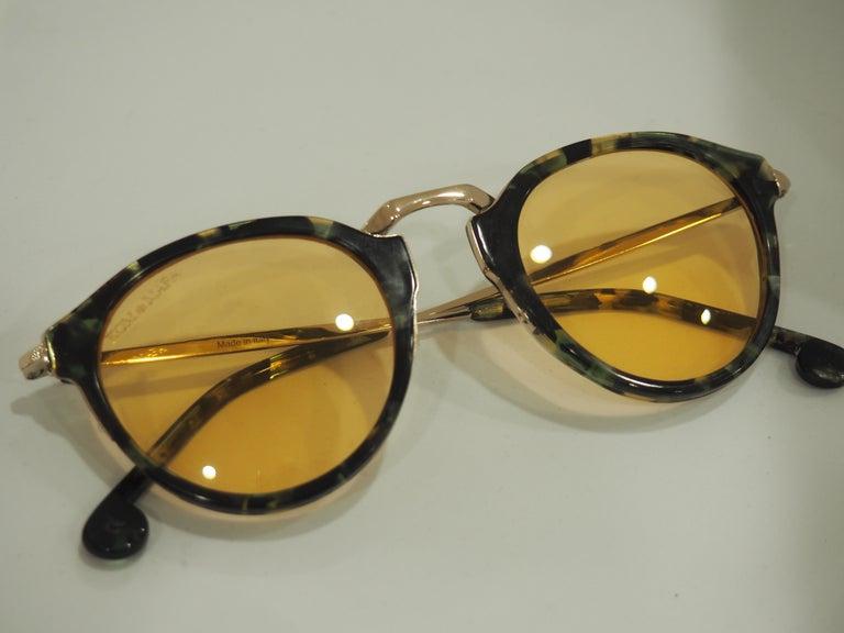Kommafa orange lens tortoise sunglasses In New Condition For Sale In Capri, IT
