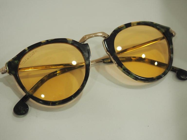 Women's or Men's Kommafa orange lens tortoise sunglasses For Sale