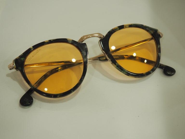 Kommafa orange lens tortoise sunglasses For Sale 1