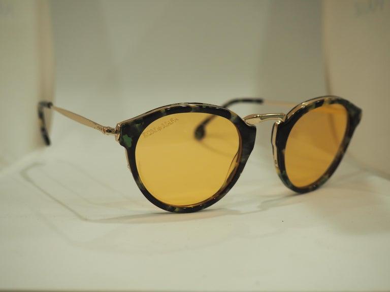 Kommafa orange lens tortoise sunglasses For Sale 2