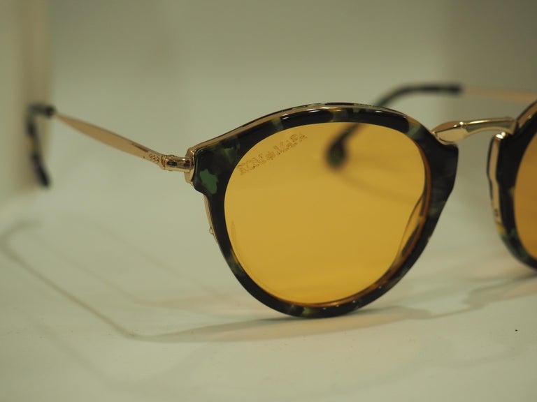 Kommafa orange lens tortoise sunglasses For Sale 3