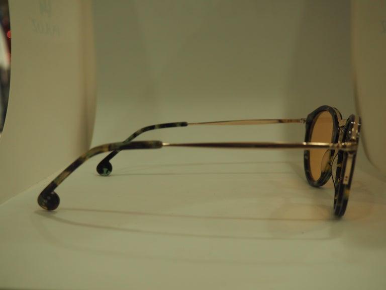 Kommafa orange lens tortoise sunglasses For Sale 4