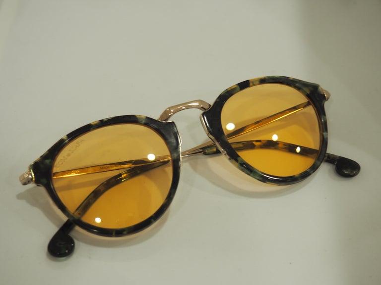 Kommafa orange lens tortoise sunglasses For Sale 5
