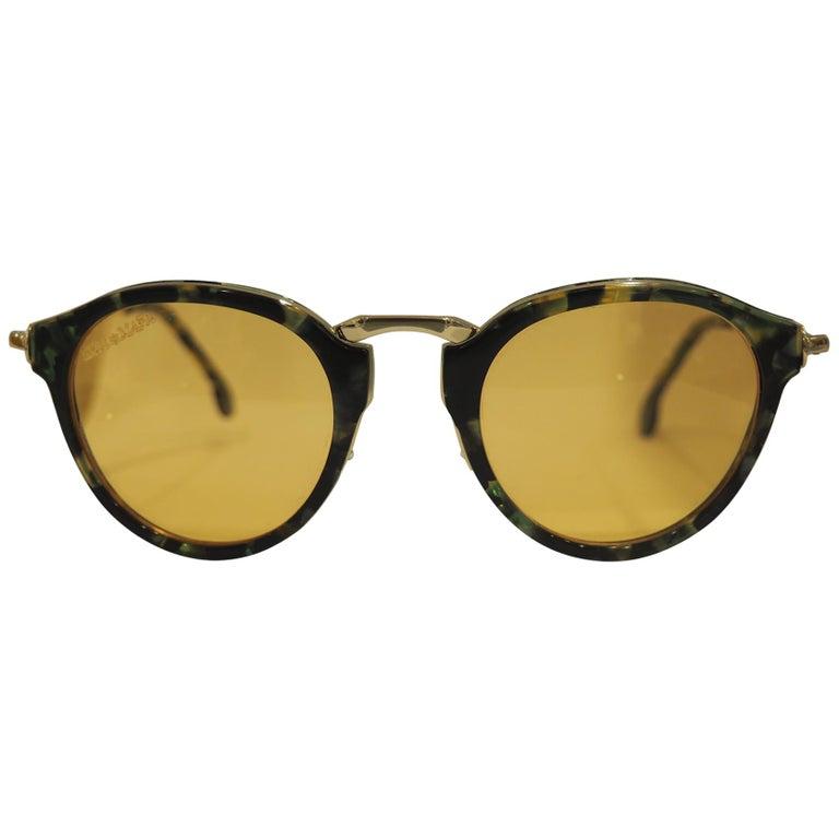 Kommafa orange lens tortoise sunglasses For Sale