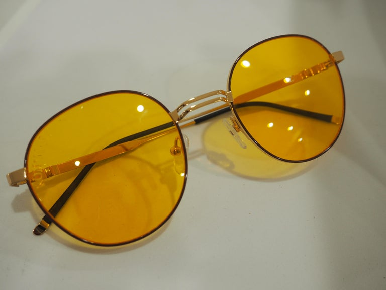 Kommafa orange sunglasses totally made in italy  one of a kind