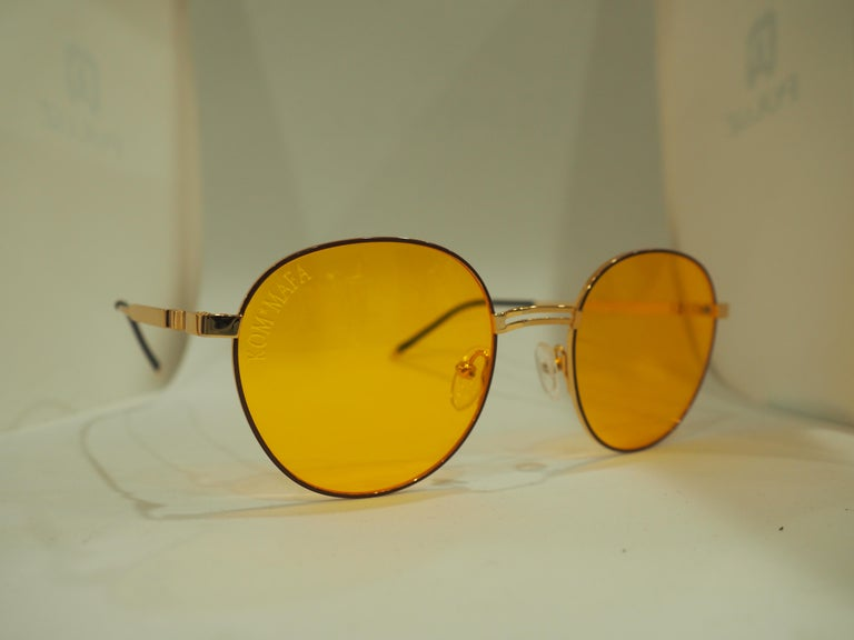 Kommafa orange sunglasses For Sale 2