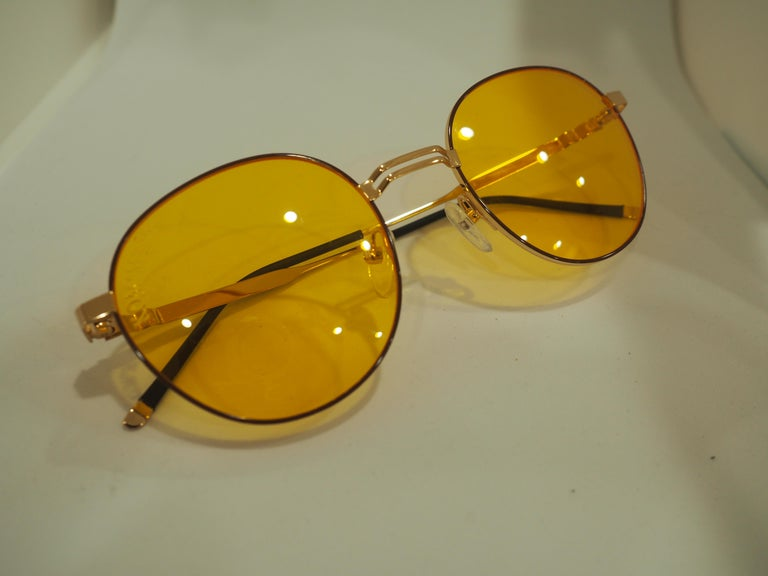 Kommafa orange sunglasses For Sale 4