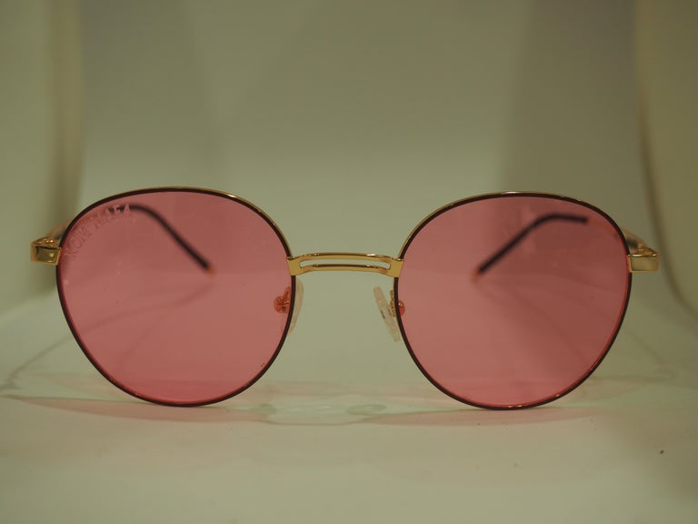 Kommafa pink sunglasses totally made in italy  one of a kind