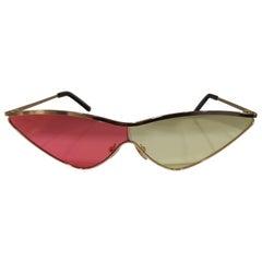 Kommafa pink yellow lens gold sunglasses