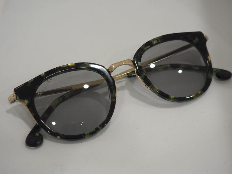 Kommafa tortoise sunglasses In New Condition For Sale In Capri, IT