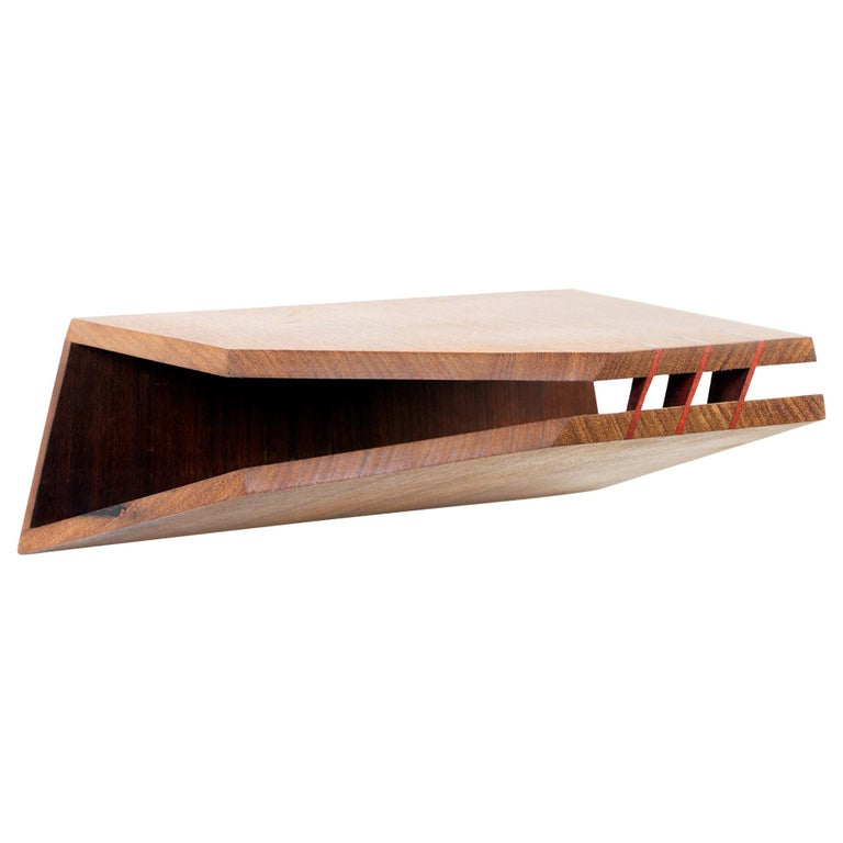 Komodo Contemporary Floating Night Stand in Brazilian Hardwood by Knót Artesanal For Sale
