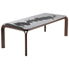 Kong Dalmata Marble Rectangular Table by Alex Bocchi and Alberto Pozzoli