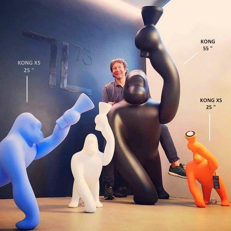 Modern Kong XS Gorilla Fuchsia Lamp, Designed by Stefano Giovannoni For Sale