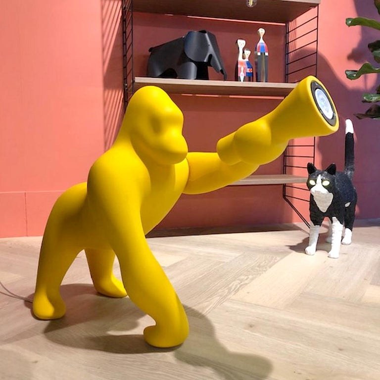 Italian Kong XS Gorilla Yellow Table Lamp, Designed by Stefano Giovannoni For Sale