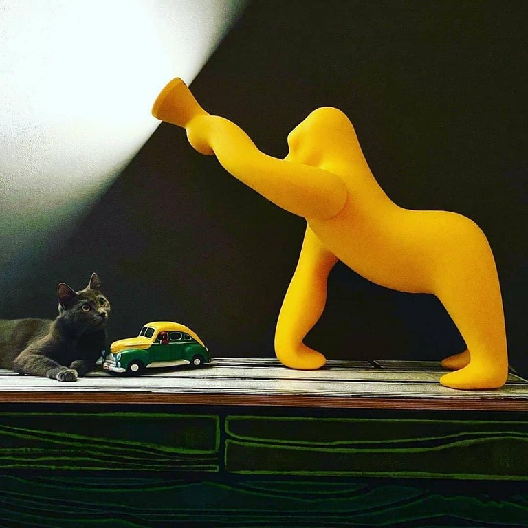 Kong XS Gorilla Yellow Table Lamp, Designed by Stefano Giovannoni In New Condition For Sale In Beverly Hills, CA