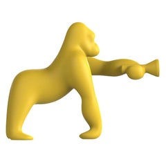 Kong XS Gorilla Yellow Table Lamp, Designed by Stefano Giovannoni