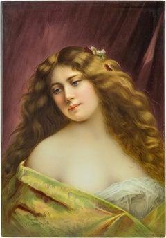 A Fine KPM Plaque of a Beautiful Woman