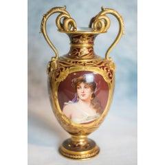 Berlin KPM Portrait Porcelain 'Orientalin' Two-Handle Vase