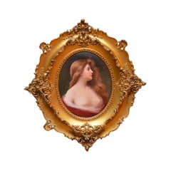 KPM Hand Painted Porcelain Plaque of a Beautiful Lady