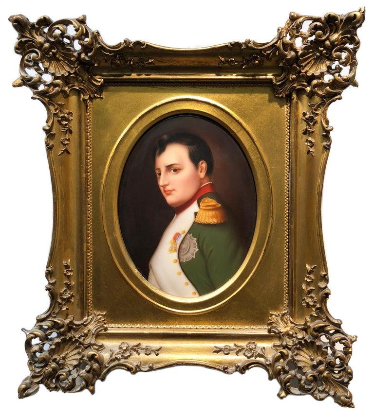 Königliche Porzellan-Manufaktur (KPM) Portrait Painting - Napoleon