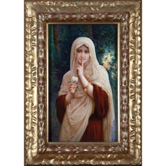 Porcelain Plaque of a Beautiful Veiled Woman by K.P.M.