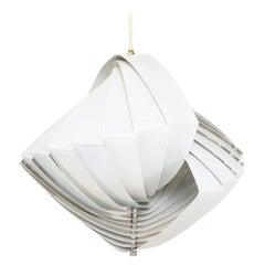 Konkylie Concentric Ceiling Pendant Lamp Louis Weisdorf for Lyfa, 1960s, Denmark