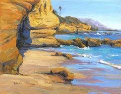 End of Summer, Laguna Beach, Painting, Oil on Canvas