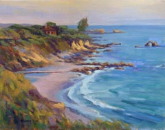 Golden Hour at Corona del Mar, Painting, Oil on Canvas