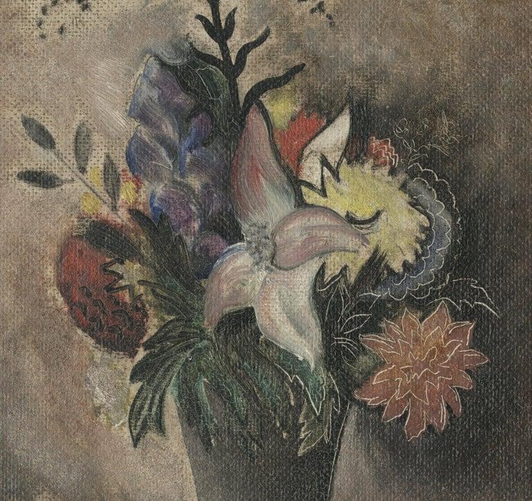 Still Life with Vase of Flowers - American Modern Painting by Konrad Cramer