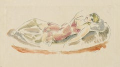 Colored Drawing No. 6 (Reclining Woman)