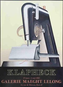 1985 After Konrad Klapheck 'Le Sphynx' Vintage Black & White France Lithograph