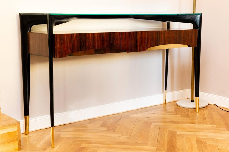 Lacquered Console, Italy, circa 1950 For Sale