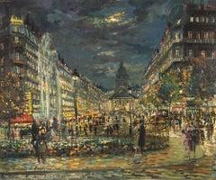 Paris - Original Oil on Canvas by K.A. Korovin - 1890