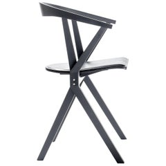 Konstantin Grcic B Chair Black Leather for Bd Barcelona
