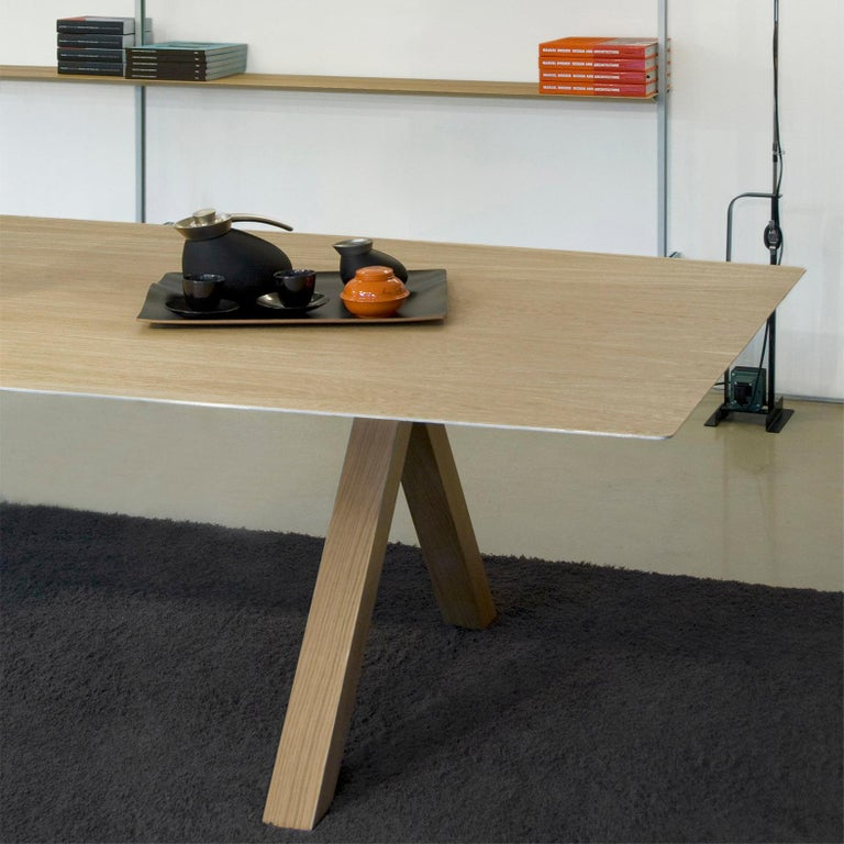 Konstantin Grcic, Contemporary Laminated Aluminium Wood Legs 360 Large B Table In New Condition For Sale In Barcelona, Barcelona