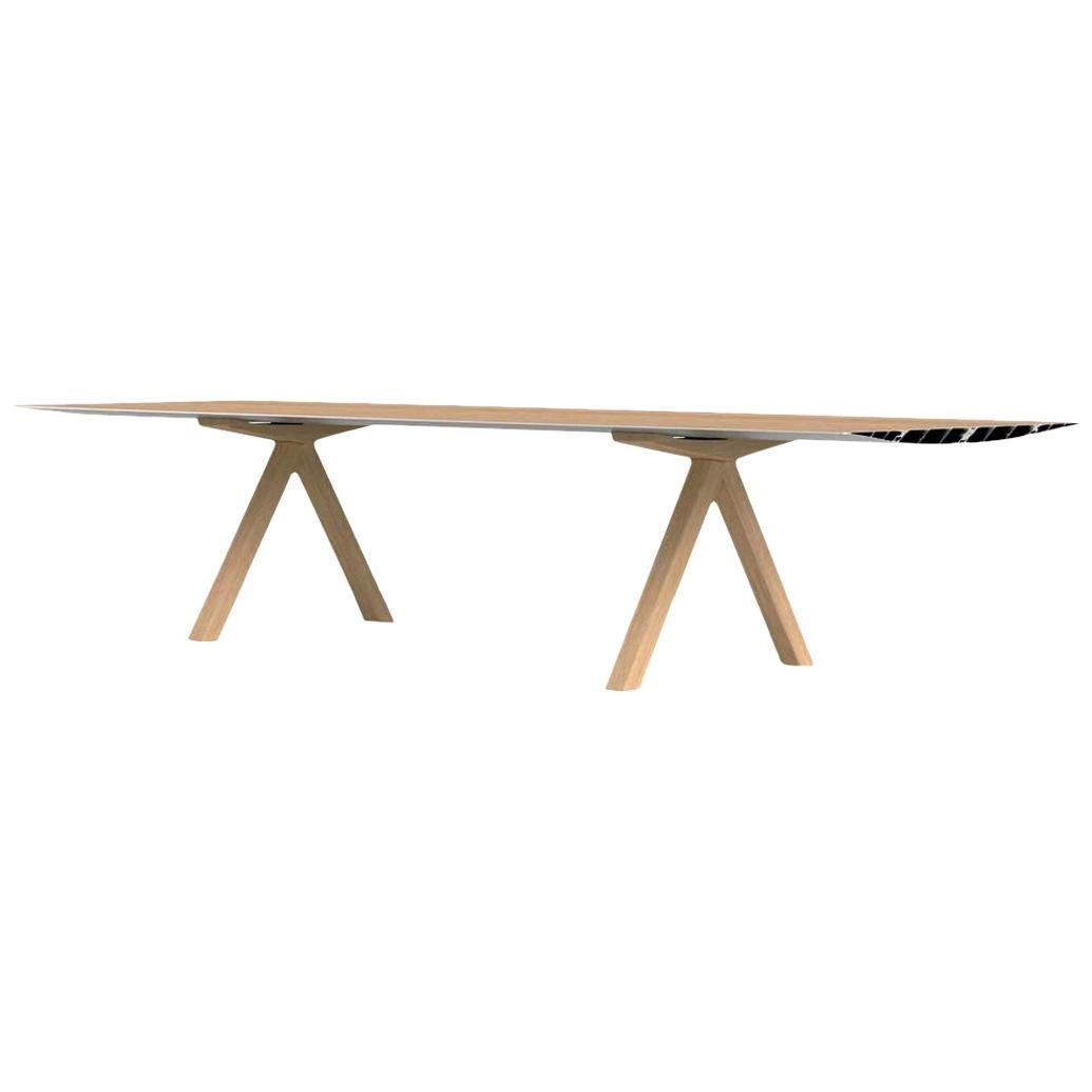 Konstantin Grcic, Contemporary Laminated Aluminum Wood Legs 360 Large B Table